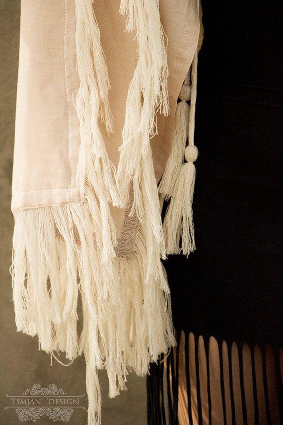 New! GYPSY LINEN KAFTAN - Bohemian Hippie Boho Robe Tunic Wedding Bride Romantic…