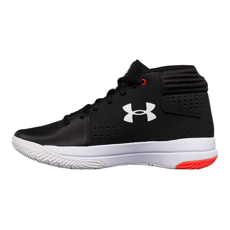 64ffacdef65f6 Under Armour Kids  Jet 2017 Grade School Basketball Shoes - Black White Red