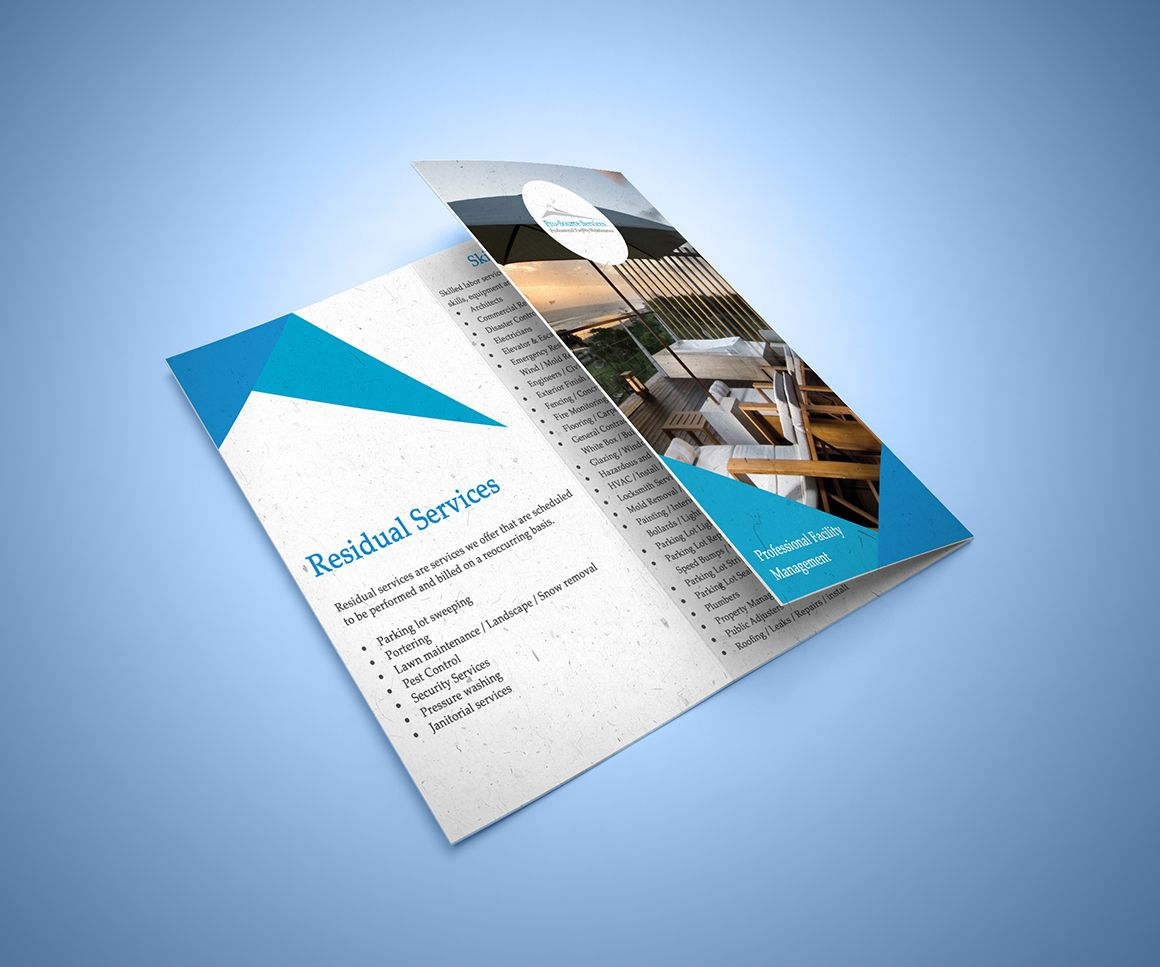 Designed for ProSource Services tri fold folding brochures