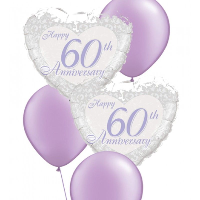Anniversary Balloon Bouquets 60th Bouquet