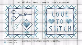 Creative Workshops from Hetti: SAL Delft Blue Love To Stitch Part 5