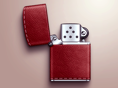Leather-zippo. I dont smoke or anything. I just want to ...