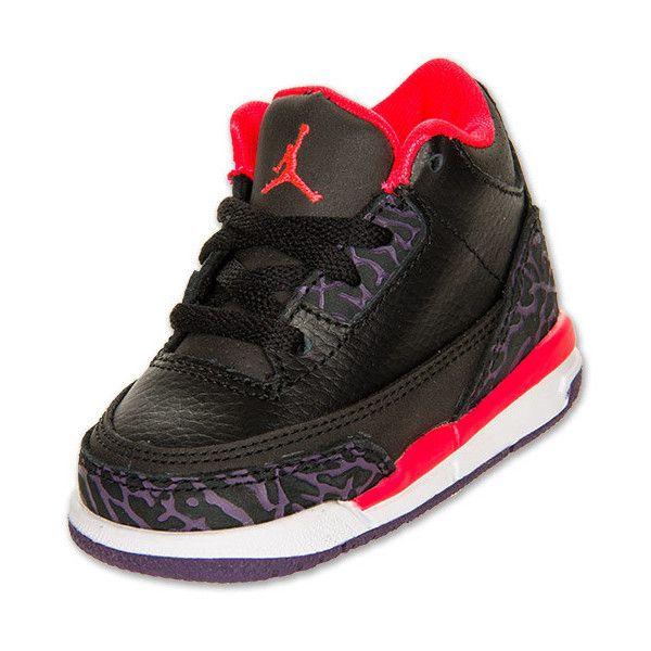 2d158deefec7 Boys  Toddler Air Jordan Retro 3 Basketball Shoes ( 55) ❤ liked on Polyvore