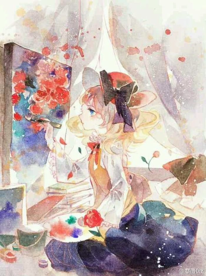 Kết Quả Hình ảnh Cho Watercolor Paint Anime Nghệ Thuật Và