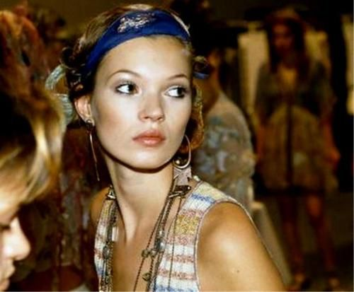 ...Kate Moss (Runway/Catwalk & Backstage)