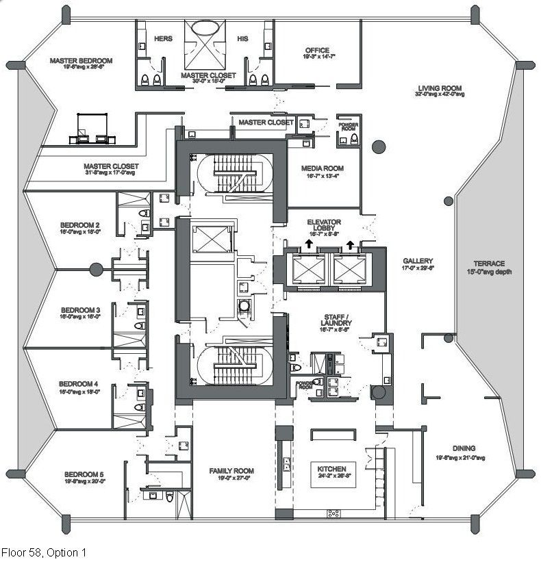 One thousand museum floor plans buscar con google for Miami house plans