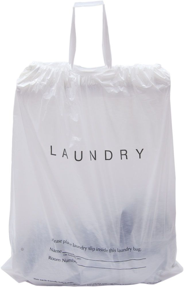 Draw Tape Hotel Laundry Bags Biodegradable Laundry Laundry