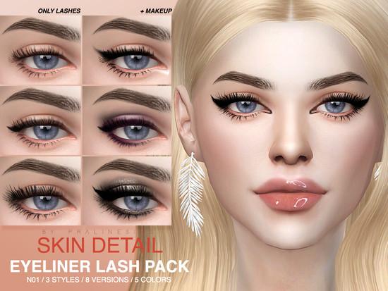 Photo of Eyeliner lashes in 40 variations, female + male, toddler – elder. Under skin det…