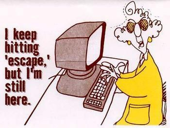 maxine cartoon hit escape on computer - Google Search