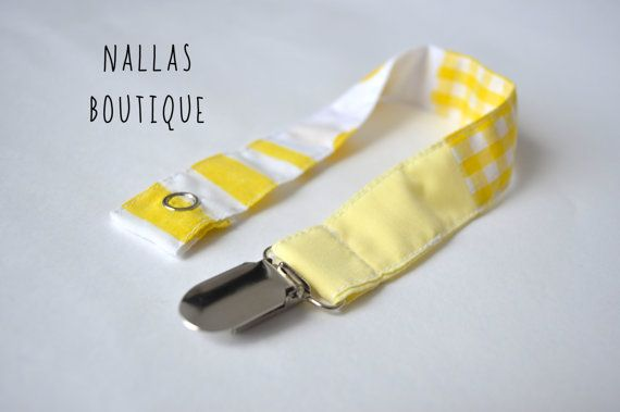 Dummy Clip Pacifier Clip Fabric Dummy Dummy by NallasBoutique