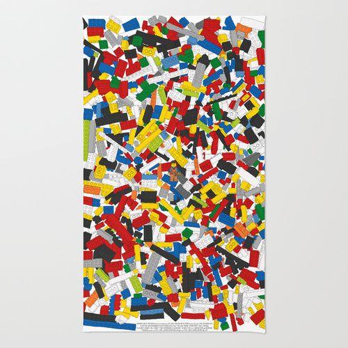 The Lego Movie Area & Throw Rug | Boys\' Lego Bathroom | Pinterest ...