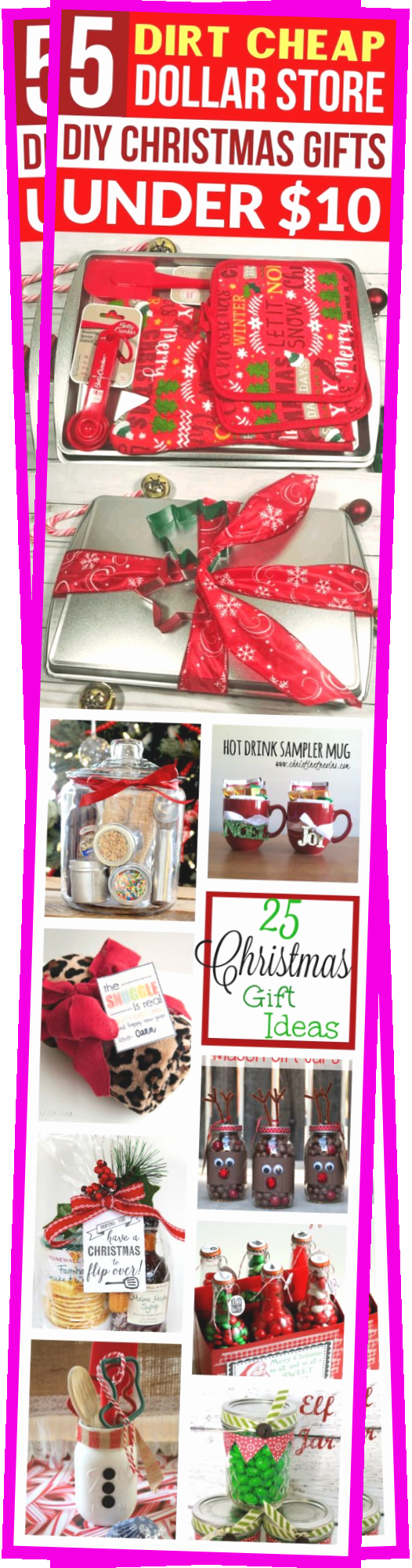 These DIY Christmas Gifts from the Dollar Store are so EASY! The BEST inexpensive holiday gift ideas from the Dollar Store under $10!! Now I can make homemade holiday gift baskets for family, friends, & coworkers from the Dollar Tree on the cheap!! | Holiday Gifts for coworkers #christmasgifts #christmas #diychristmasgifts #diy #christmas #gifts #homeideas #homeforchristmas #holidaypartyfood #appetizersholiday #christmascaserole #holidayideas #travelideas #christmasideas