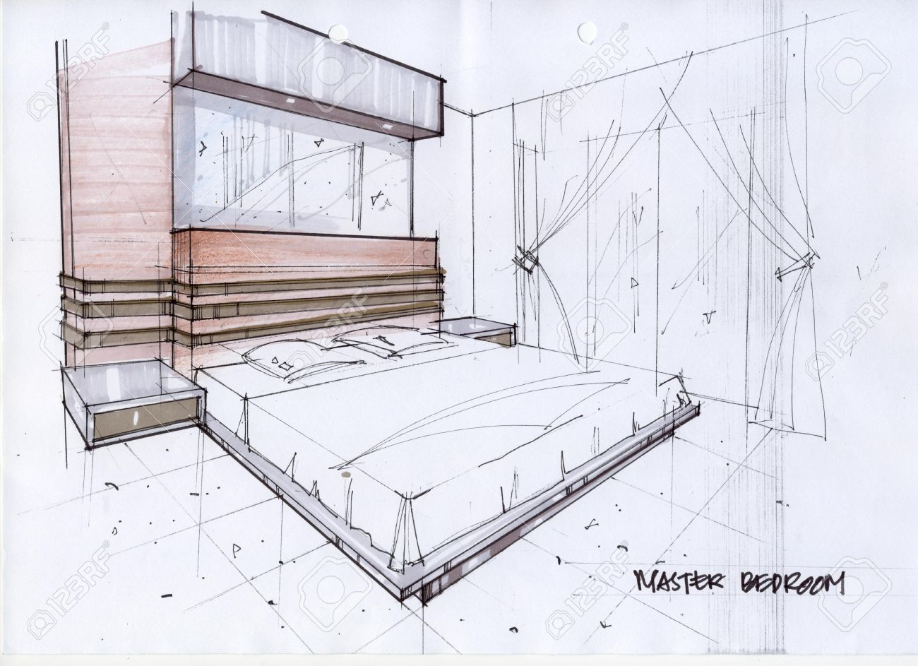 Drawn Bedroom Basic Interior Design 279 With Images Interior