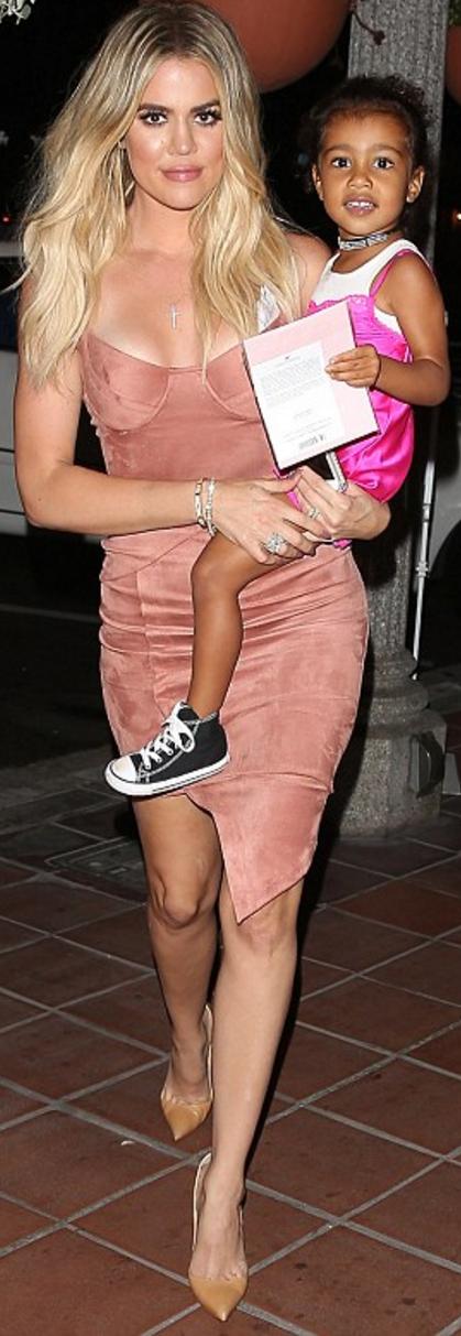 Khloe Kardashian:Dress – House of CB  Shoes Christian Louboutin #khloekardashianhouse