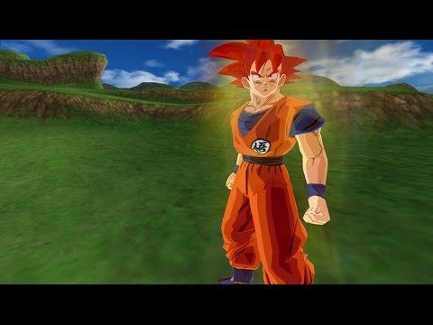 Goku Super Saiyan God in Dragon Ball Z Budokai Tenkaichi 3