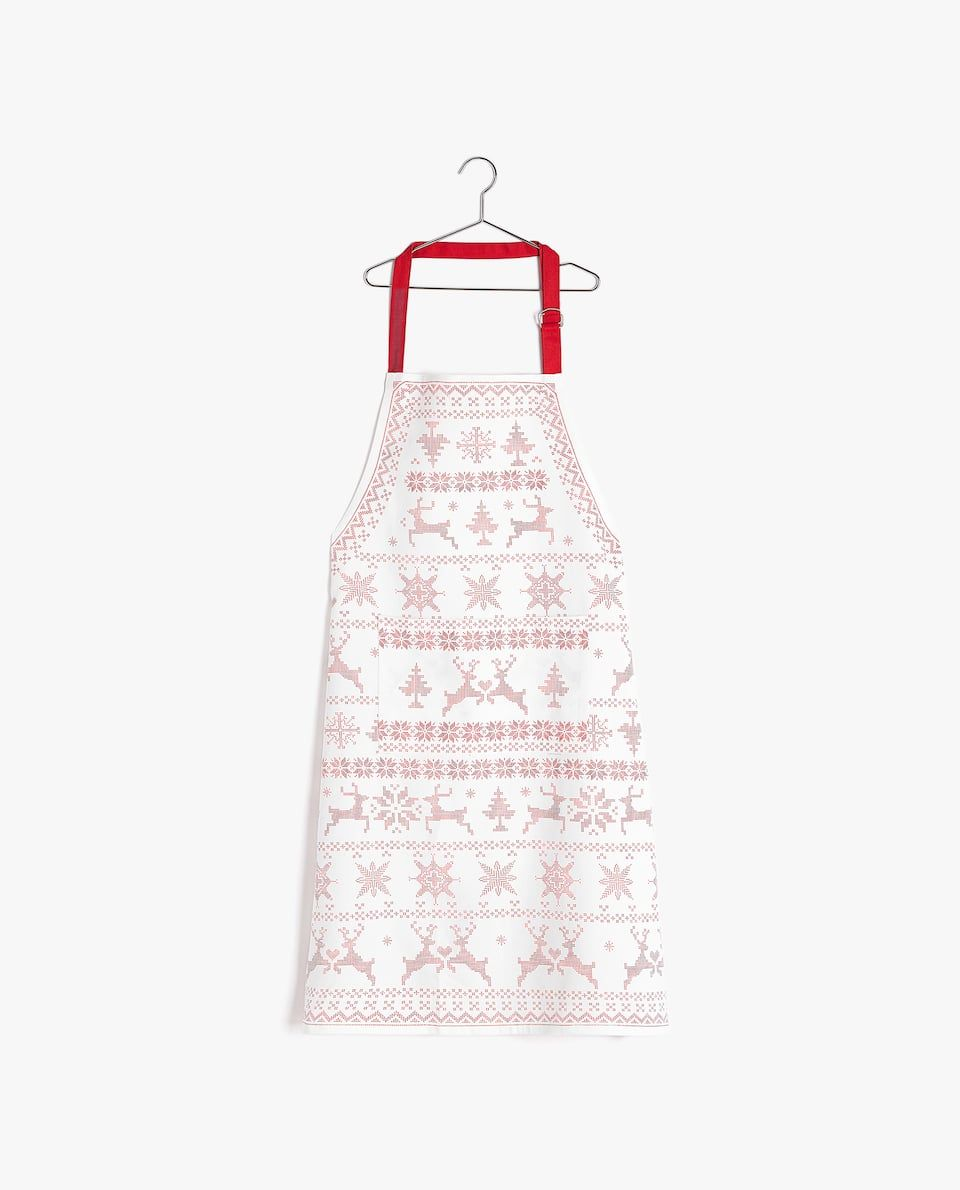 Image 1 Of The Product Reindeer Apron Zara Home Zara