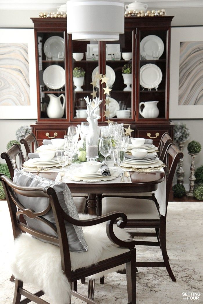 Holiday Home Decor Idea See this design bloggeru0027s elegant HOLIDAY CHIC dining room and an exciting Mikasa Dinnerware Giveaway - sponsored - to win one 16 ... & Elegant Table Setting Ideas and Mikasa Dinnerware Giveaway | Mikasa ...