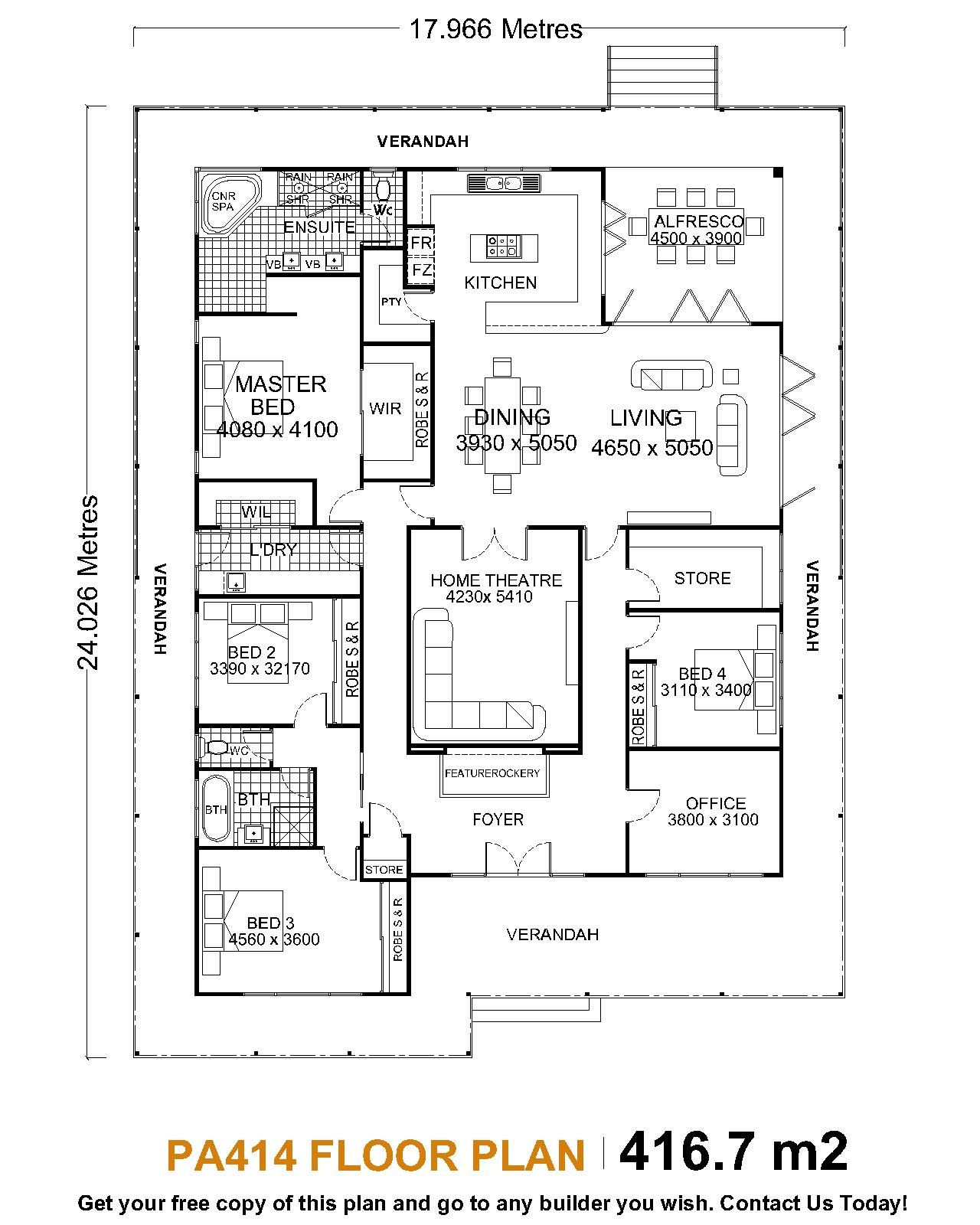 Single Story House Plans Single Level House Plans One Bedroom House Open Floor House Plans