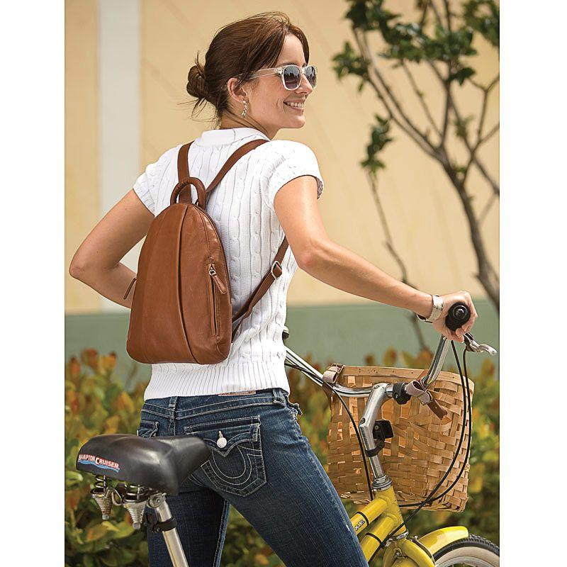 Marley Teardrop Multi-Zip Backpack, Brown