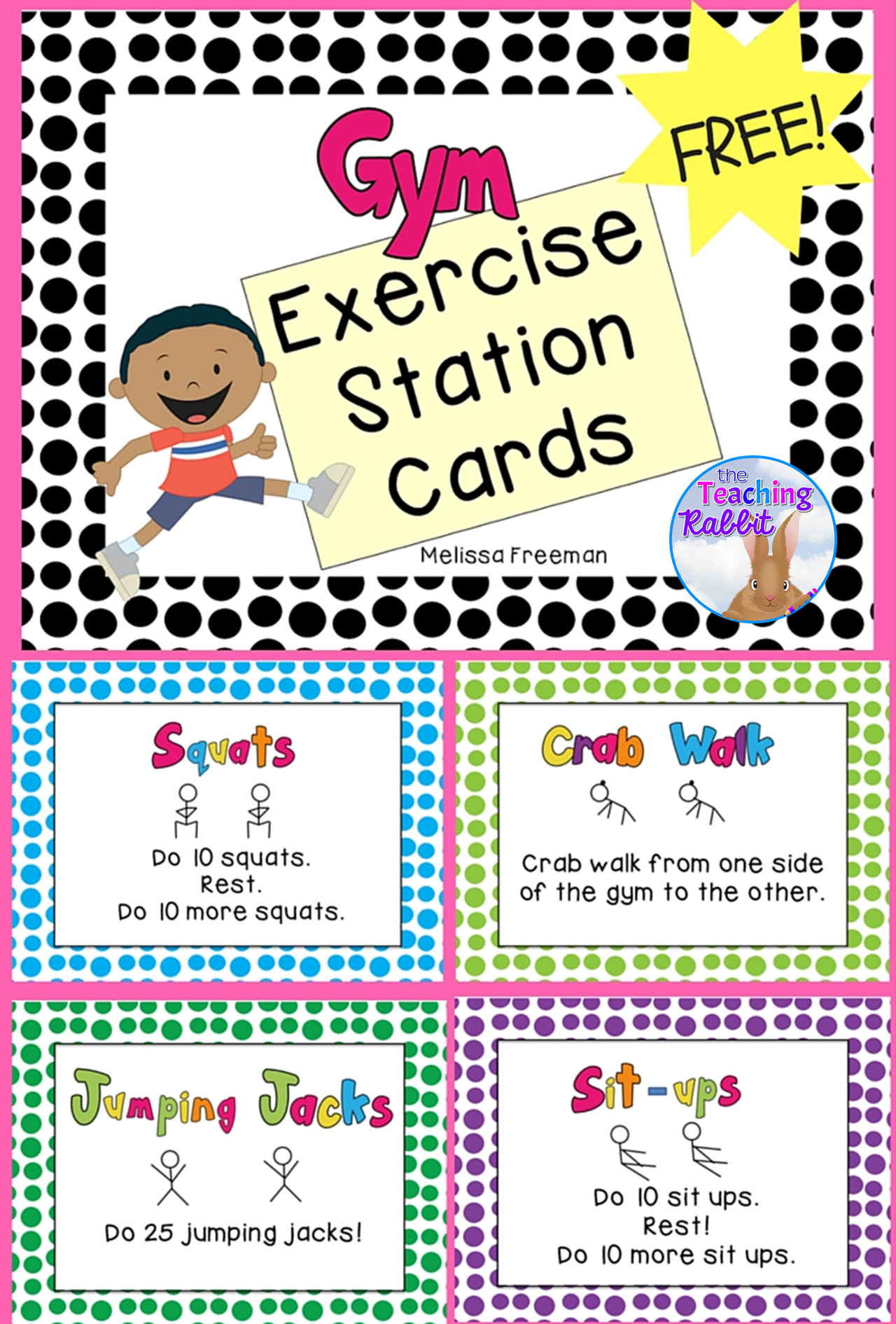 Mesmerizing image regarding printable exercise cards
