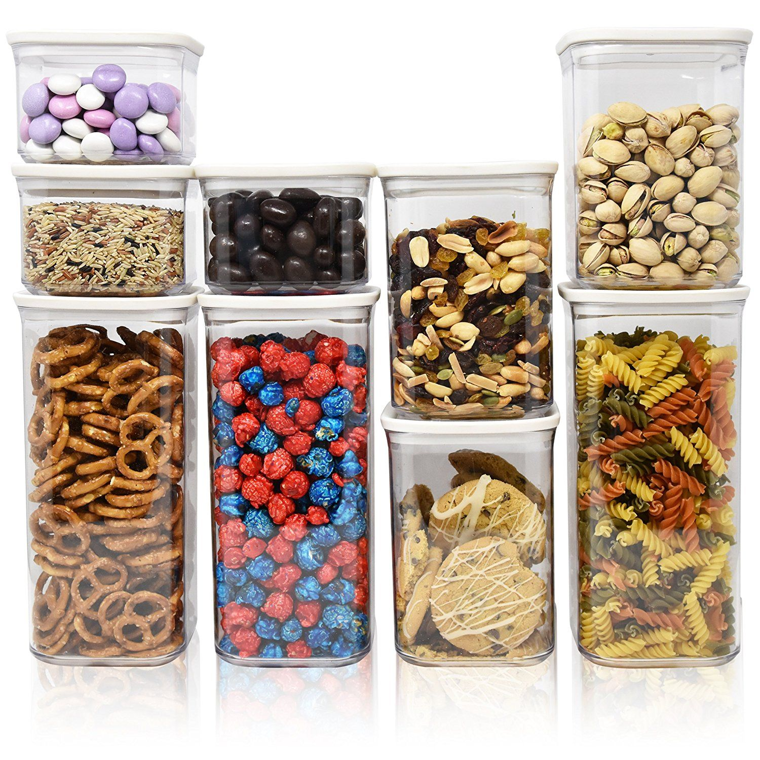 Airtight dry food storage container set food