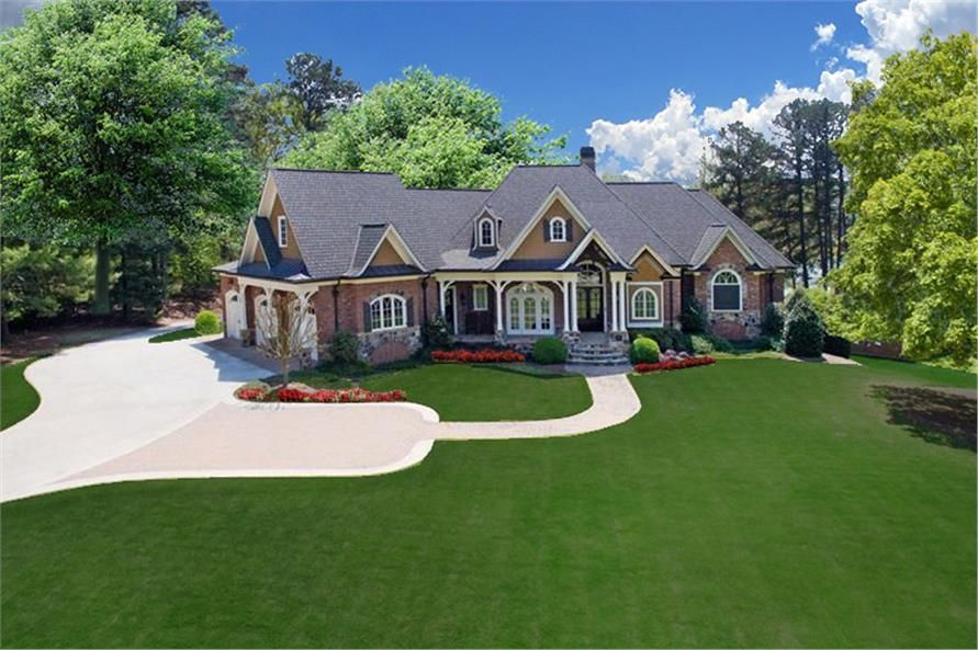 Luxury Craftsman Home Plan 3 Bed 3 5 Bath 3071 Sq Ft Craftsman House Plans Southern House Plan Craftsman House