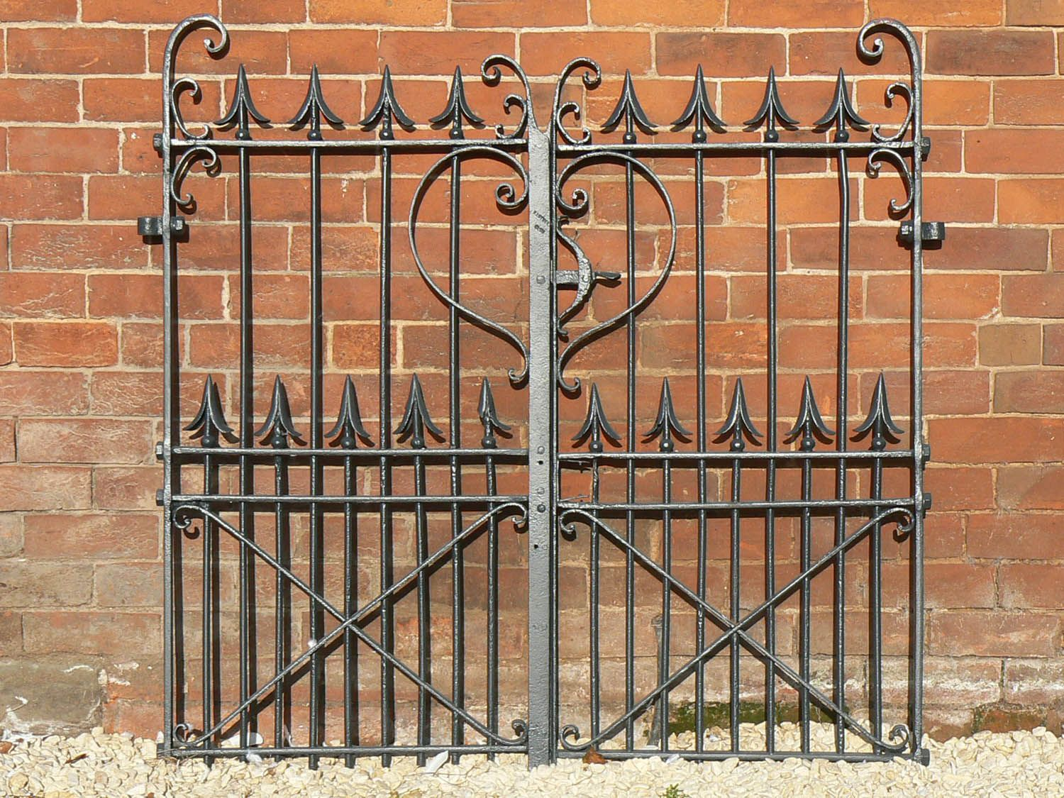 Ornamental iron gates old wrought doors