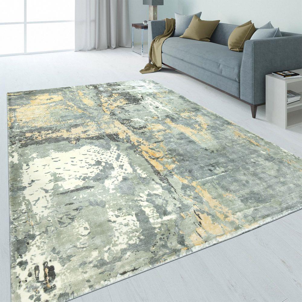 Design Teppich Abstrakt Used Look Beige Teppich Vintage