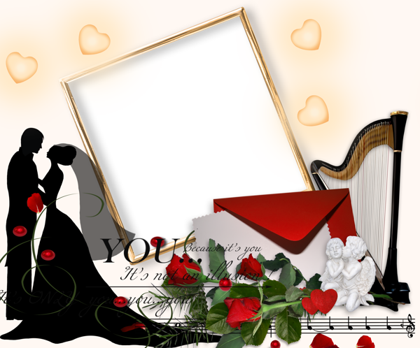 romantic wedding png photo frame