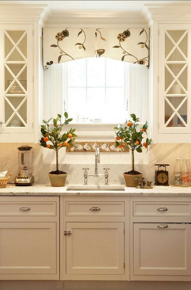 Admirable Carrera Marble Kitchen Decorating Ideas Elegant Kitchens Kitchen Valances Kitchen Window Valances