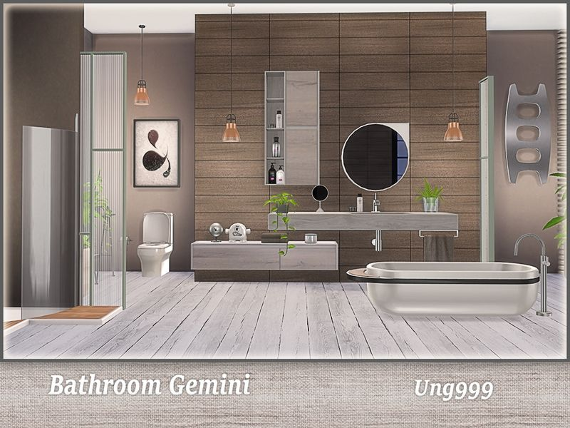 This Modern Bathroom Set Contains The Following 11 New Meshes