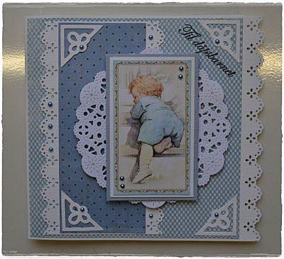 Velkommen inn: Dåpskort til en gutt....