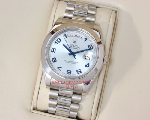 Rolex Day Date Ii Ice Blue Roman Numeral Dial Platinum President