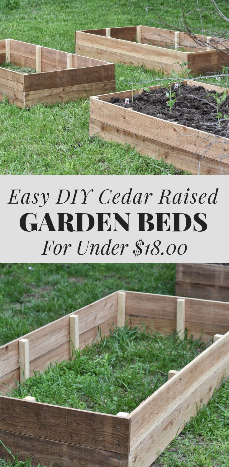 Build a Raised Garden Vegetable Bed  DIY Cedar Garden Bed Tutorial Learn how to build a raised vegetable garden bed out of cedar for less than 1800