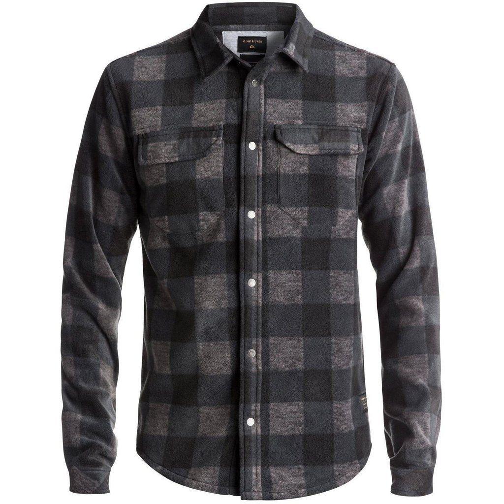 Rust Blue Quiksilver Mens Waterman Collection Wade Creek Long Sleeve Shirt