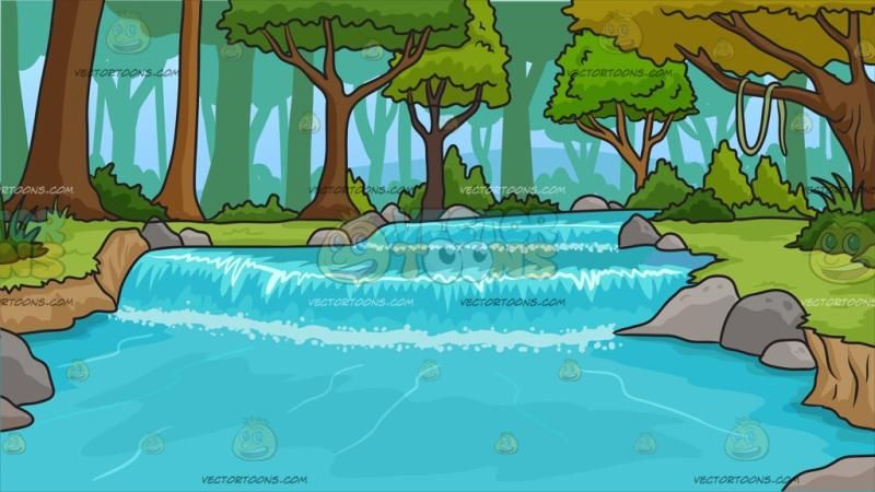 River Running Through A Forest Background : A River Stream