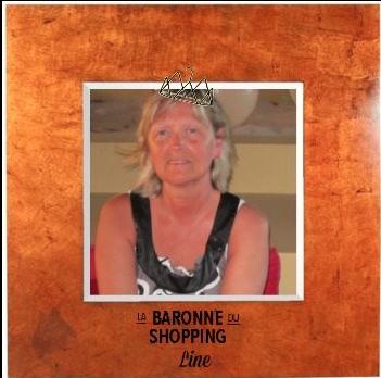 Line, Baronne du shopping.
