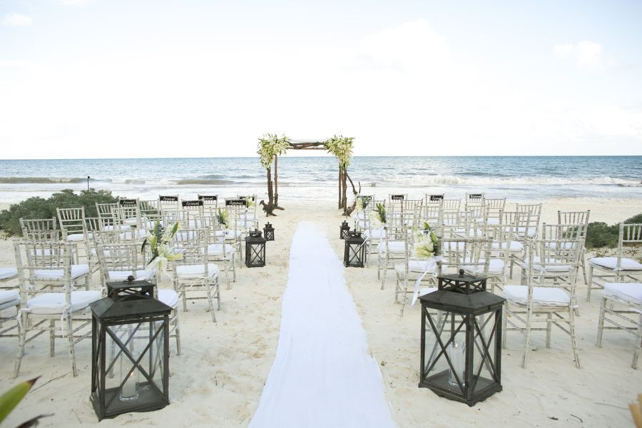 The wedding venue on the beach with