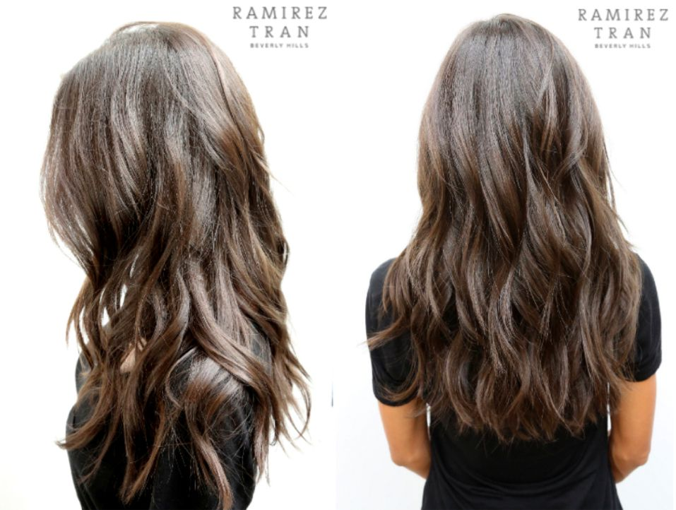 Dark Brown Beach Waves Subtle Layers Beach Wave Hair New Hair Modern Haircuts