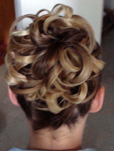Formal Upstyle Back View Updos For Medium Length Hair Hair Styles Medium Length Hair Styles