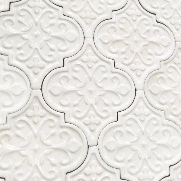 Byzantine Florid Arabesque Tile Arabesque Tile Kitchen Tiles Backsplash Trendy Kitchen Backsplash