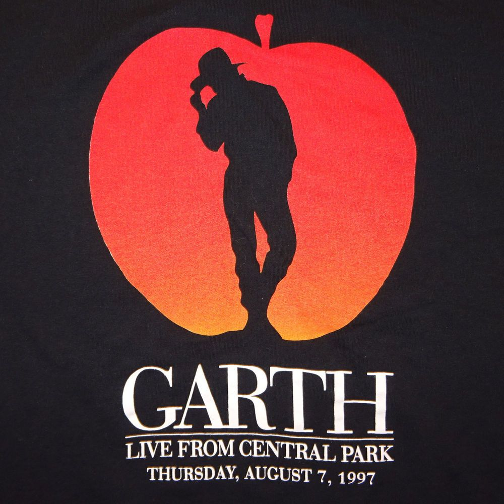 b5e88915 1997 Garth Brooks Live from Central Park Concert T-Shirt Tee HBO Special  Size XL