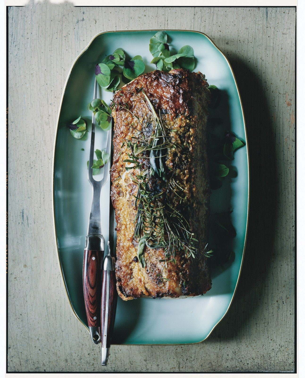 Roast Pork Loin With Garlic And Rosemary