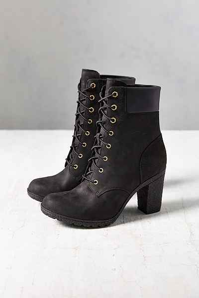 Timberland Glancy Black Heeled Boot
