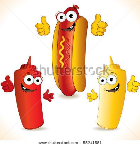 Funny Hot Dog Clip Art Cartoon Hot Dog With Funny Friends
