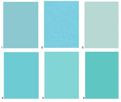 best robins egg blue paint chips. 1. farrow & ball blue ground 2