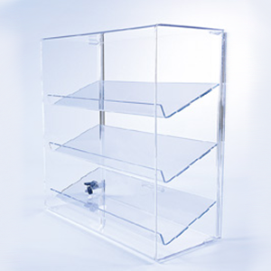 order an acrylic three angled shelf display case store fixtures rh pinterest com