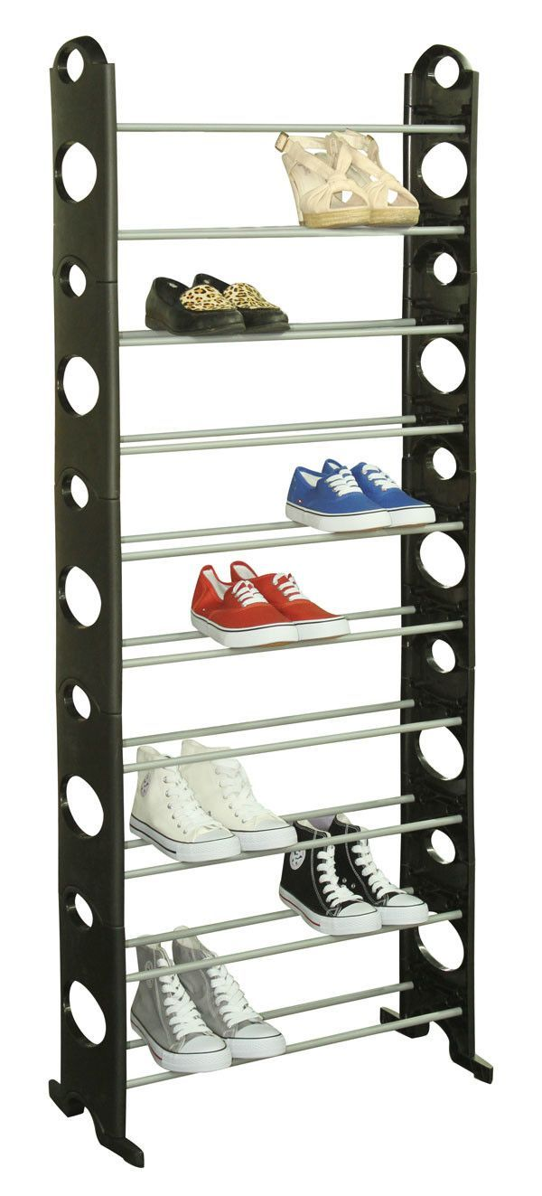 10 Tier 30 Pair Shoe Rack 50 Pair Shoe Rack Plastic Shoe Rack Black Shoe Rack