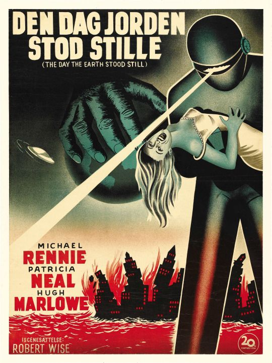 Michael Rennie The Day the Earth Stood Still Movie POSTER 11 x 17 USA A NEW