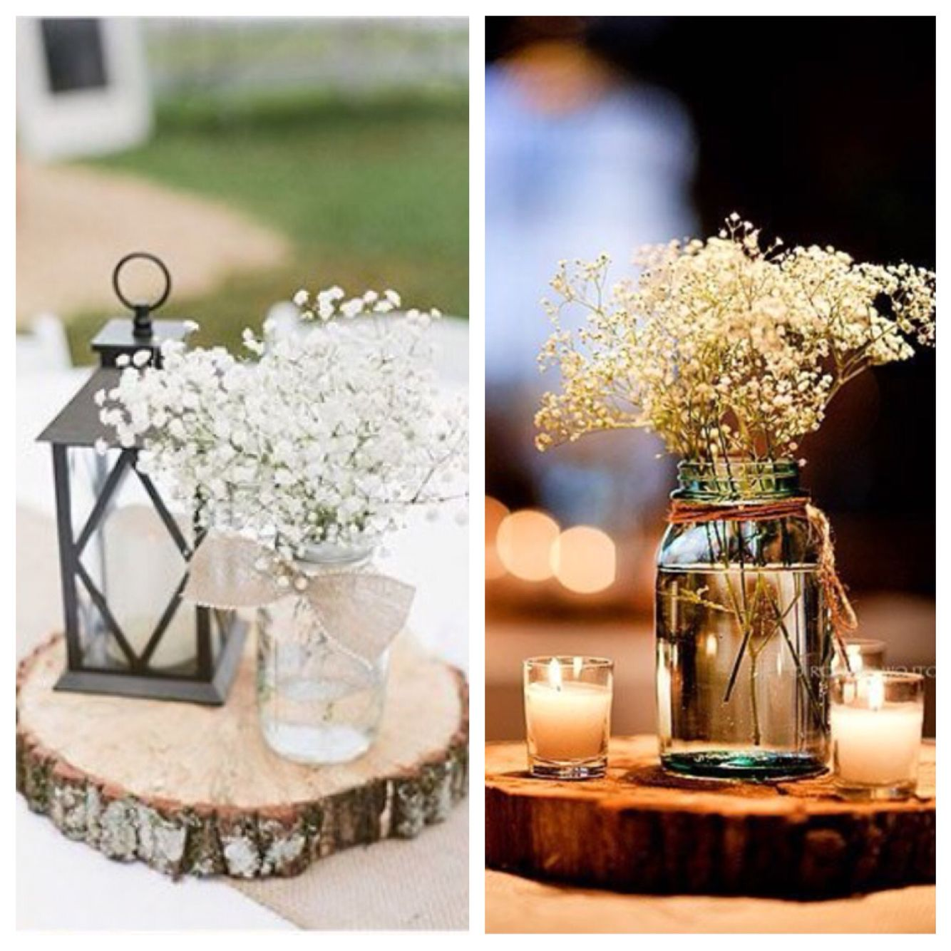 Centerpiece Combo Of These Two. Wood Stand, Mason Jar With